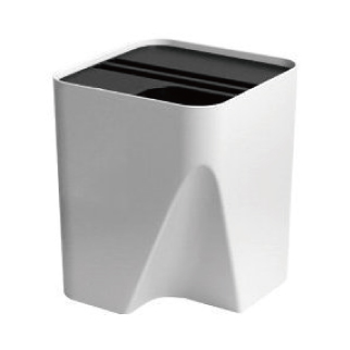 BLOCK stackable recycle bin30 ブラック・ホワイト
